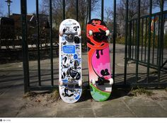 310k designed 2 skateboards fro Tom's skate store in Amsterdam. They are limited to 30 of each.