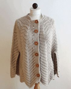 #80 Ripple Cape Crochet Pattern. http://www.maggiescrochet.com/ripple-cape-crochet-pattern-p-231.html#.UP7pzaxrQoE  This crochet fashion forward crochet pattern design is the perfect addition to any wardrobe. You can go from casual to classy in an instant. Pair it with jeans for a sophisticated look or drape over a dress. You'll be comfortable and chic day or night!