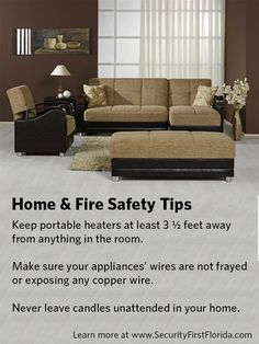 Fire prevention and home safety tips keep your home safe. View the free fire prevention guide for many more tips on protecting your home.
