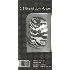 ZEBRA-Print Wireless Mouse _____________________________ Reposted by Dr. Veronica Lee, DNP (Depew/Buffalo, NY, US)