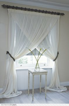 Overlapping sheer panels - simple yet dramatic