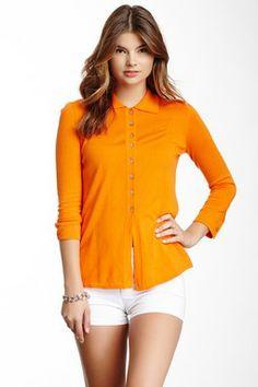 3/4 Length Sleeve Silk Blend Knit Sweater