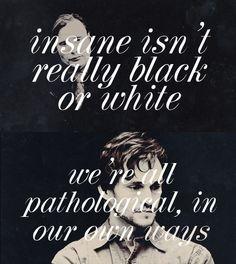 Insane isn't really black or white.  Hannibal Will Graham Hugh Dancy. <3