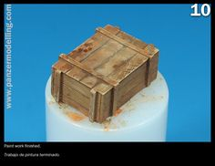 The wooden boxes are a good complement for our AFV models, bellow an easy step by step paint process maybe can help you: Las cajas de madera son un buen complemento pra tus maquetas de Vehículos Mi…