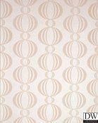 Azhar Champagne Retro Orb Wallpaper