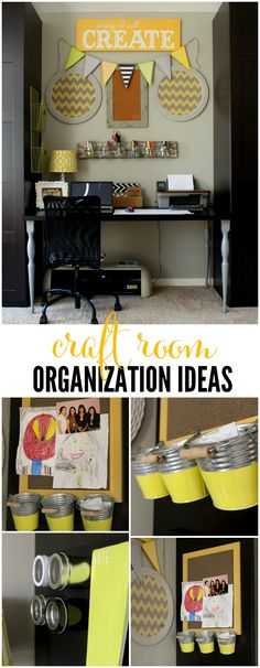 Craft Room Organization Ideas { lilluna.com }