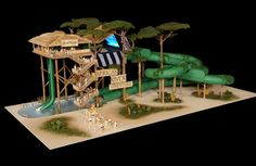 Awesome waterslide concept from Splashtacular!  African River Adventure.