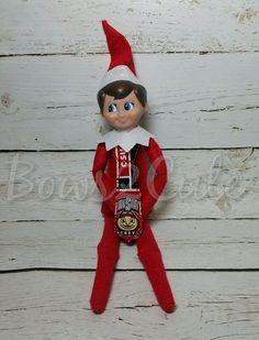 Elf Tie-OSU-Elf tie, Elf on the Shelf, Elf accessories, Elf on the Shelf tie, Elf on the shelf clothes