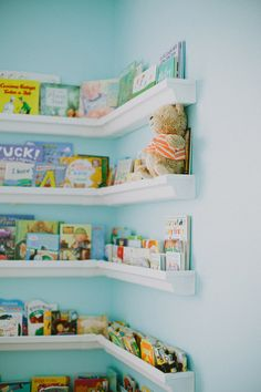 Love this book shelf! Charlee & Harper Lu, Featuring Big Brother Graysen || Newborns » ciara richardson photography