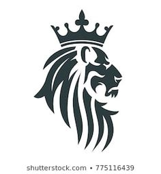 Find Head Lion Royal Crown Vector Illustration stock images in HD and millions of other royalty-free stock photos, illustrations and vectors in the Shutterstock collection. Thousands of new, high-quality pictures added every day. Crown Tattoo Design, Sketch Tattoo Design, Tattoo Designs, Crown Png, Head Crown, Crown Silhouette, Silhouette Face, Lion Sketch, Lion Vector