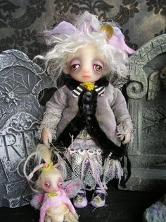 OOAK Gail Lackey Victorian Gothic Ghost Sculpted Doll NIADA