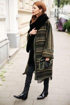 Как носить пальто из гобелена (трафик) / Как носить? / ВТОРАЯ УЛИЦА