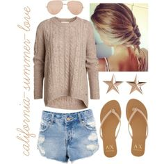 """Spring Beach Outfit"" by california-summer-love on Polyvore"