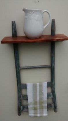 Ladderback Chair Shelf w/Pallet wood shelf