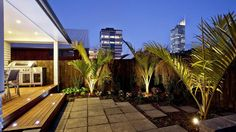 The Block NZ 2012. #BestBackYard #NikauPalms #CoveredDining. www.richardlandscapeconcepts.co.nz