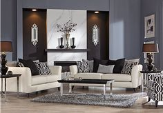 picture of Sofia Vergara Summerlin 7 Pc Living Room  from Living Room Sets Furniture