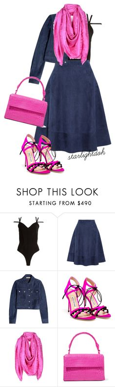 """Untitled #580"" by starlightdoh ❤ liked on Polyvore featuring Alaïa, Michael Kors, Manolo Blahnik, Versace and Nancy Gonzalez"