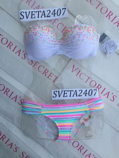 New Sexy Victoria's Secret Gorgeous Push Up Bikini Set White Sequin 36C 34DD M L | eBay
