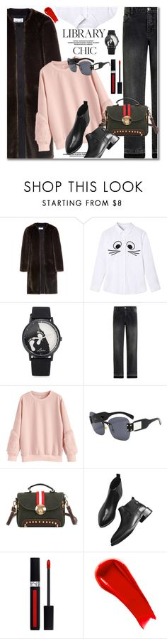 """Work Hard, Play Hard: Finals Season"" by paculi ❤ liked on Polyvore featuring Christian Dior, NARS Cosmetics and finals"