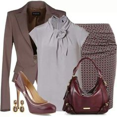 Office attire; casual and simple