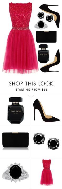 """""""The Pink Panther in Shocking Pink."""" by anybarb ❤ liked on Polyvore featuring Elie Saab, Christian Louboutin, L.K.Bennett and Dorothy Perkins"""