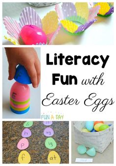 So many Easter egg activities for kids! These will be perfect for preschoolers or elementary aged kids. Love that there are math, literacy, science, and sensory activities for using Easter eggs. And ideas for decorating eggs! Preschool Teacher Tips, Easter Activities For Preschool, Early Learning Activities, Rhyming Activities, Crafts For Kids, Easter Egg Designs, Easter Ideas, Easter Recipes, Kids Pages