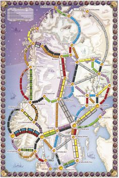 Map Ticket to Ride Nordic Countries