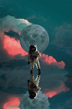 Astronaut Wall Art, Astronomy Poster, Planet Artwork, Contemporary Art, Galaxy A. Artistic Wallpaper, Retro Wallpaper, Galaxy Wallpaper, Beautiful Wallpaper, Art Galaxie, Modern Art, Contemporary Art, Astronaut Wallpaper, Space Artwork