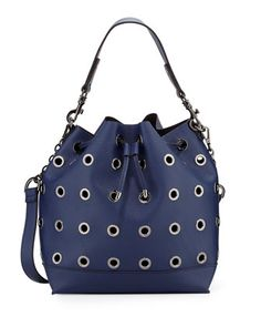 Grommet Large Bucket Bag, Navy by Neiman Marcus at Neiman Marcus Last Call.