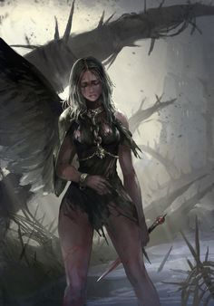 f Cleric CN Med Armor Magic Rod Dagger Swamp Jungle hills Dark Fantasy Art, Fantasy Women, Fantasy Girl, Fantasy Artwork, Fantasy Inspiration, Character Inspiration, Character Art, Angel Warrior, Fantasy Warrior