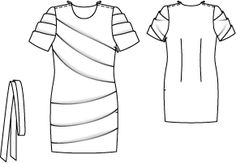 burda style 10/2010  Minikleid 132