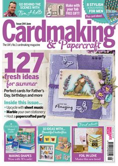 "Eeek! Monica is a ""Cover Girl"".  Our precious little Monica is featured on this month's cover of Cardmaking & Papercraft Magazine, which is the UK's No. 1 cardmaking magazine. You can click on the link below to view all of the products that she is currently on using this image. http://www.house-mouse.com/cgi-bin/gallery.cgi?image=egl8s&category"