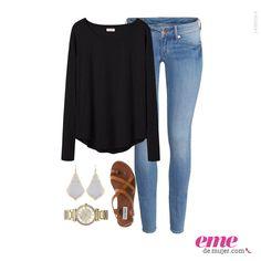 #OutfitEme ideal para una salida tranquila con las amigas. Para saber más de moda y ser toda una fashionista entra en nuestra página web http://ve.emedemujer.com/moda/.