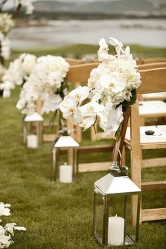 Could do lanterns down the aisle...although candle light is not seen during the day as much.