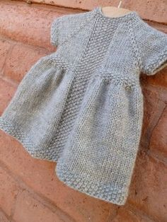 Discover thousands of images about Baby Knitting Patterns PATTERNFISH - the online pattern store Baby Knitting Patterns, Knitting For Kids, Baby Patterns, Free Knitting, Knitting Needles, Knitting Projects, Girls Knitted Dress, Knit Baby Dress, Knitted Baby Clothes