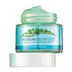 "Avon Elements Moisture Boost Night Gel Cream Oil-Free available at ""youravon.com/johnlavayen"""