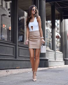 Women S Fashion Discount Codes Product Faux Leather Skirt, Leather Mini Skirts, Leather Leggings, Urban Fashion, Womens Fashion, Petite Fashion, Curvy Fashion, Look Formal, Fashion Over