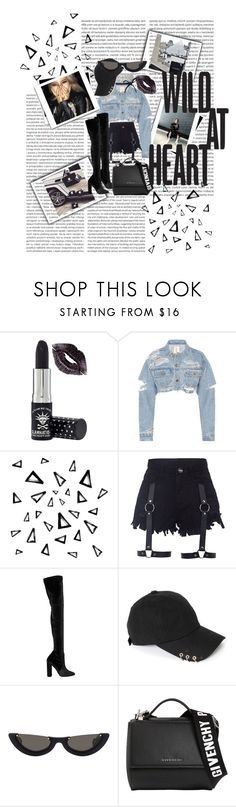 """""""First CL"""" by onlybts101 ❤ liked on Polyvore featuring Manic Panic NYC, Nika, Elie Saab, PAWAKA, Givenchy and Prada"""