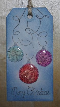 Glossy Baubles by helentheheffalump, via Flickr. Love the simplicity.