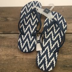 NWT Navy & Blue Tribal Flip Flops by Gap Size 7 Brand new darling flip flops, perfect for the pool! GAP Shoes Sandals
