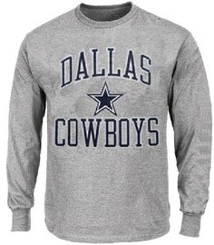 Dallas Cowboys Grey Pro Set Long Sleeve T Shirt $23.95