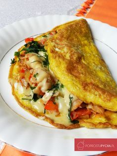 Omlet przepis Easy Meals For Two, Best Food Ever, Best Appetizers, Italian Recipes, Love Food, Quiche, Breakfast Recipes, Food Porn, Food And Drink