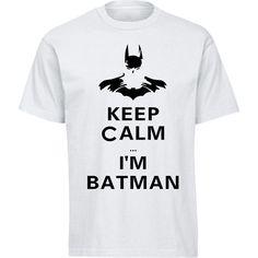 Movie Print I'm Batman T Shirts Fashion Personalized Custom Tshirts Men Funny T-shirts Plus Size Tees - free shipping worldwide