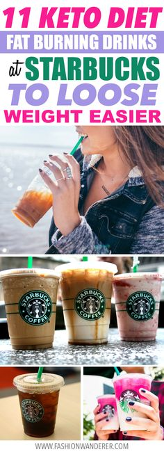 These keto diet fat burning drinks at Starbucks are THE BEST! I'm so glad to find these delicious latte not only they are yummy but also it helps to loose weight easy and faster! From ombre pink drink, white mocha with coconut and almond milk or MCT oil and caramel macchiato, keto coffee and many more! Definitely pinning! #ketodiet #starbucks #mctoilc #ketogenic #coffee #LowCarb #KETO