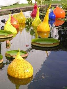 """I don't think you can properly call these """"products"""".  I am mad crazy about Dale Chihuly and so proud of our pieces at the MMFA and the amazing Chihuly chandelier at the Jule Collins Smith Museum in Auburn."""