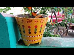 Thulasi Plant, Good Morning Beautiful Pictures, Puja Room, Decorative Planters, Enamel Paint, Potted Plants, Origami, Planter Pots, Herbs