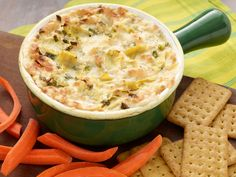 Three Cheese Hot Artichoke Dip recipe from Paula Deen via Food Network