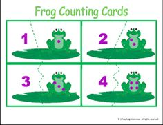 Frog Counting Cards
