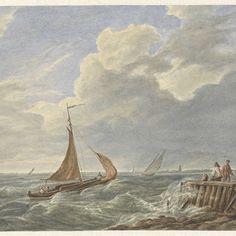 Woelig water, Matthijs Maris, naar Johannes Christiaan Schotel, 1849 - 1917 - Rijksmuseum