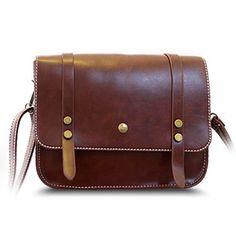 Trendy Rivets and Belt Design Women's Crossbody Bag (BROWN) in Crossbody Bags | DressLily.com